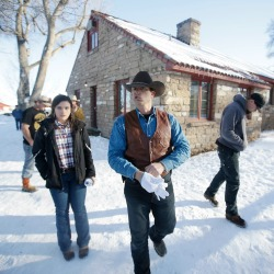 In this Jan. 8, 2016, file photo, Ryan Bundy, one of the sons of Nevada rancher Cliven Bundy, walks through the Malheur National Wildlife Refuge near Burns, Ore. The leaders of an armed group that took over a national wildlife refuge in rural Oregon have been found not guilty of conspiracy and possession of firearms at a federal facility. A jury on Thursday, Oct. 27, 2016, exonerated brothers Ammon and Ryan Bundy and five others of conspiring to impede federal workers from their jobs at the Malheur National Wildlife Refuge. (AP Photo/Rick Bowmer, File)