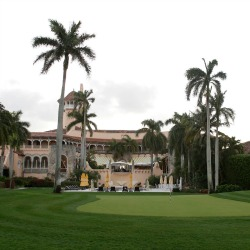 This March 11, 2016, file photo shows the Mar-A-Lago Club, owned by Republican presidential candidate Donald Trump, in Palm Beach, Fla. A staple of Palm Beach's high-end philanthropy circuit, the Mar-a-Lago Club boasts rich history, an 800-seat ballroom and ocean views. Trump has suggested that his presidential campaign will boost his hotel business and personal brand. But after a tumultuous run up to the election, including lewd statements about women and derogatory remarks about immigrants, there's some evidence that Trump's brand is being tarnished. (AP Photo/Lynne Sladky, File)