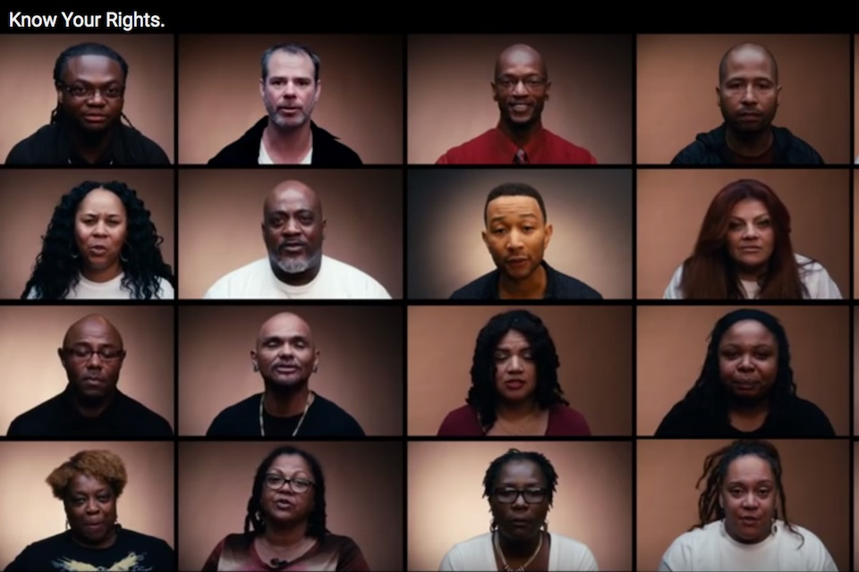 Voting rights video screenshot featuring John Legend