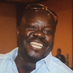 Cellphone photo released by Dan Gilleon, the attorney for the family of Alfred Olango, shows Alfred Olango, the Ugandan refugee killed Tuesday, Sept. 27, 2016, in El Cajon, Calif. The fatal police shooting of Olango, who drew something from his pocket and extended his hands in a