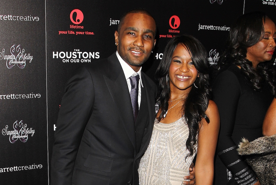 "Nick Gordon and Bobbi Kristina Brown attending the premiere party for ""The Houstons On Our Own"" at the Tribeca Grand hotel in New York Oct. 12, 2012. A judge in Atlanta on Friday, Sept. 16, 2016, ruled against Gordon, in a wrongful death lawsuit filed by her estate. Fulton County Superior Court Judge T. Jackson Bedford signed an order saying Gordon repeatedly failed to meet court deadlines in the case and, therefore, the conservator of her estate wins by default.( Photo by Donald Traill/Invision/AP,File)"