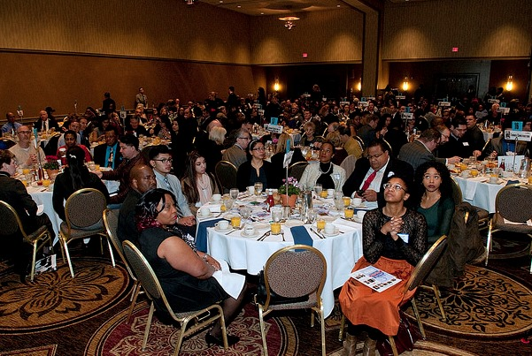 Crowd assembled at The Skanner Foundation's 2016 Martin Luther King, Jr. breakfast.