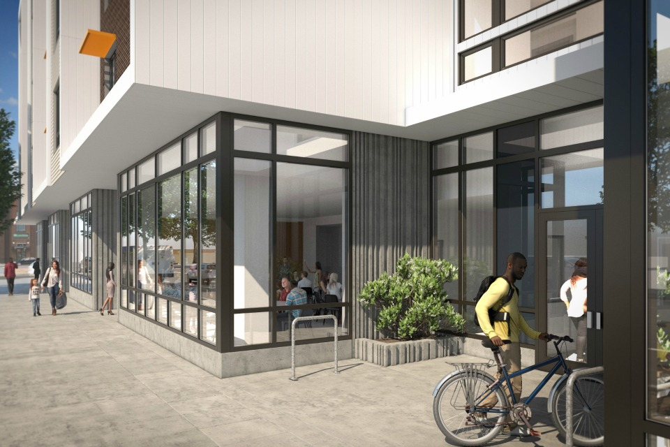 Design, Beatrice Marrow Apartments. The affordable housing project will include mixed-units, from studios to 3-bedrooms, priced at area median incomes. Construction is slotted for May, 2017. (Photo Courtesy of PCRI/Atomic Sky)