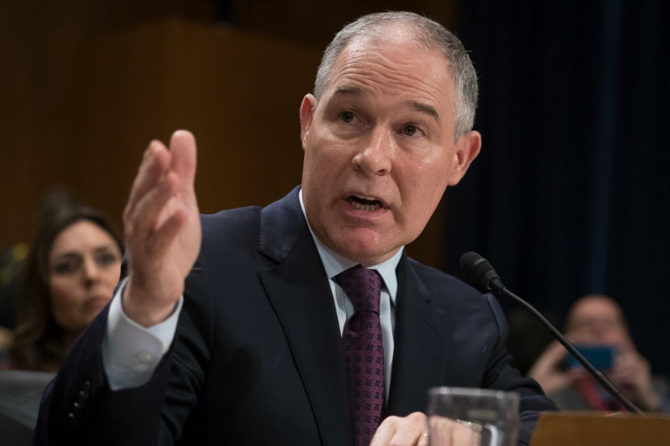 Environmental Protection Agency Administrator nominee, Oklahoma Attorney General Scott Pruitt