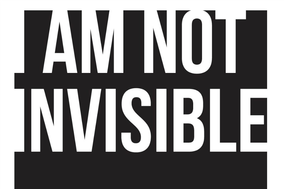 """I Am Not Invisible"" photo exhibit promotion (Courtesy of Portland Art Museum)"