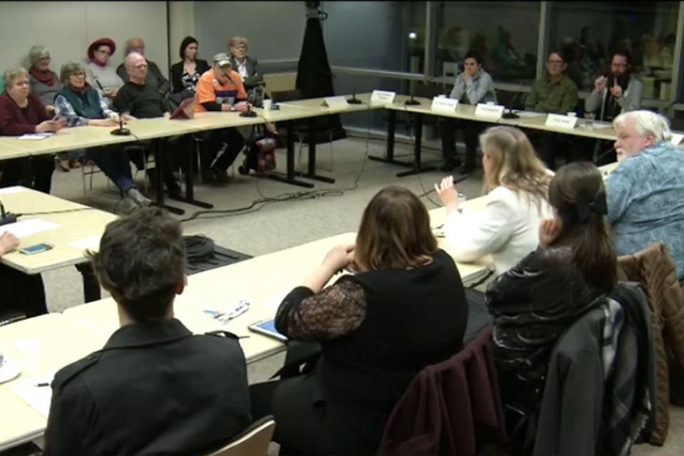 Community Oversight Advisory Board Meeting January 26, 2017. (Photo: screenshot of video recorded meeting)