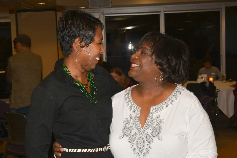 McKenzie River Gathering (MRG) Foundation's former executive director, Roberta Phillip-Robbins, left, with Sharon Gary-Smith, right. Gary-Smith retired from her role as the executive director of MRG in 2016. She became the first African American woman to run a philanthropic foundation in Oregon in 2011. (Courtesy: MRG Foundation)
