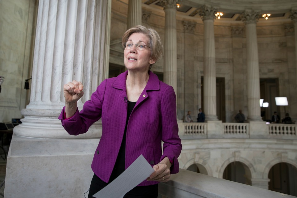 en. Elizabeth Warren, D-Mass. reacts to being rebuked by the Senate leadership and accused of impugning a fellow senator, Attorney General-designate, Sen. Jeff Sessions, R-Ala. (AP Photo/J. Scott Applewhite)
