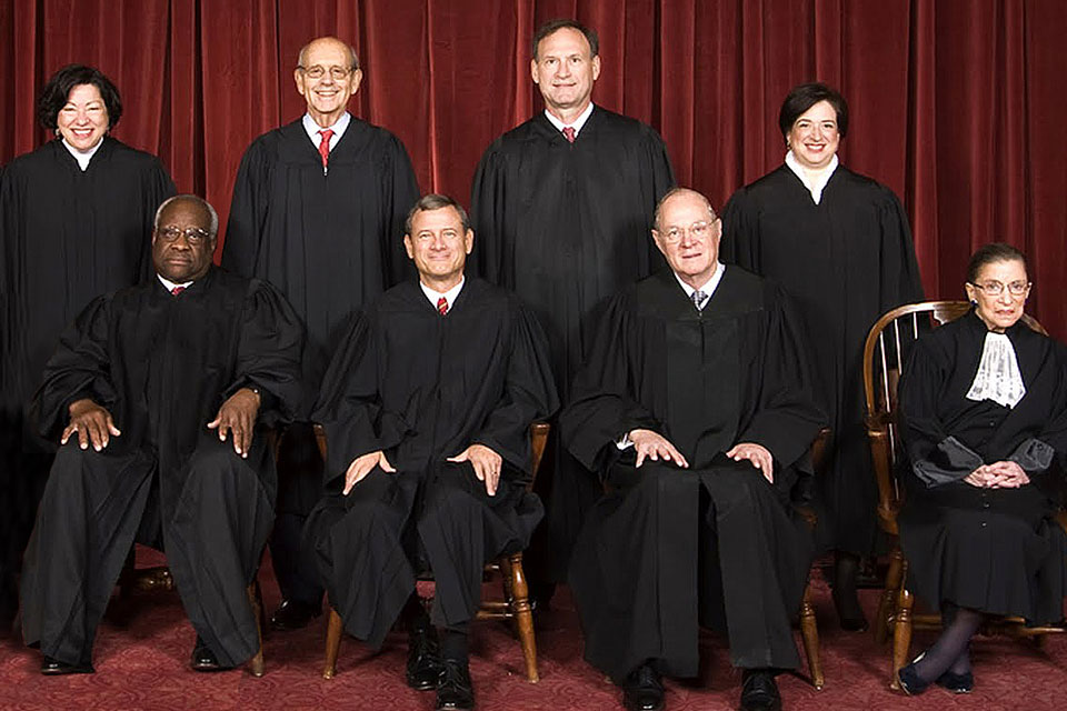 Eight U.S. Supreme Court Justices