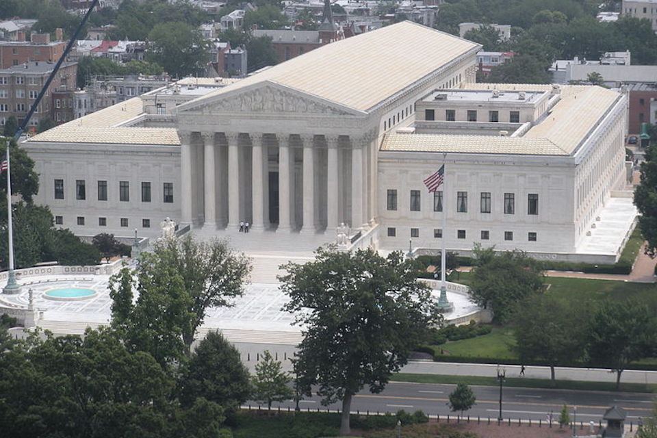 Supreme Court of the USA courtesy of Wikimedia contributor Philosophicalswag