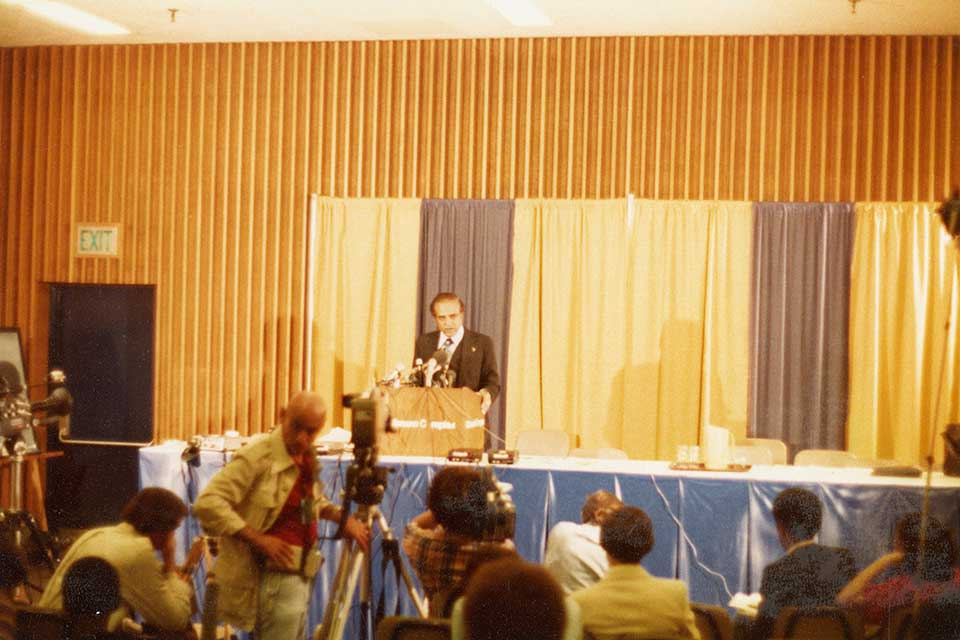 Benjamin Hooks at 1978 national NAACP convention in Portland, Oregon