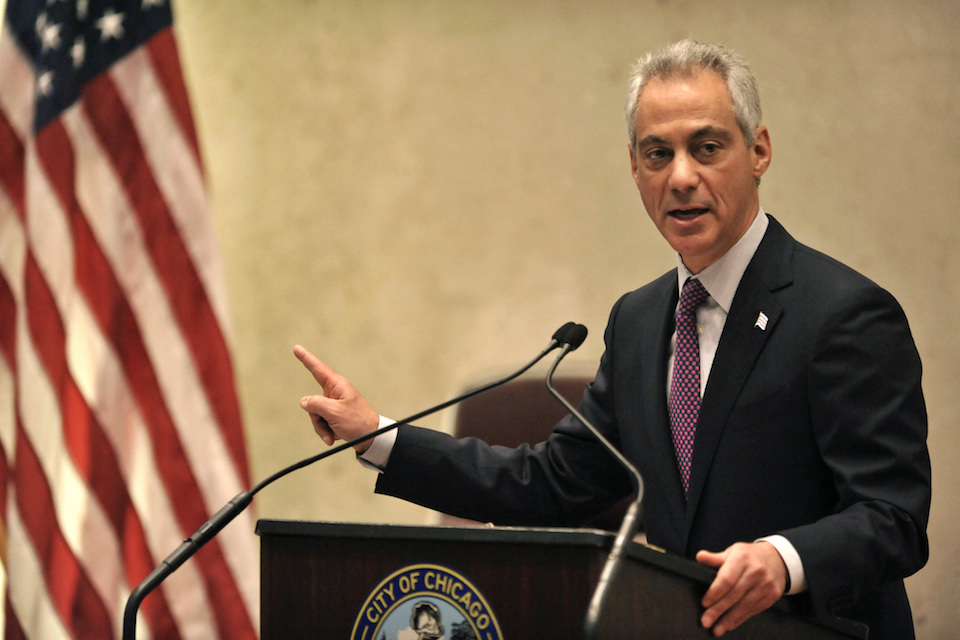 Chicago Mayor Rahm Emanuel speaks during a special City Council meeting that he called to discuss a police abuse scandal, in Chicago, Dec. 9, 2015. The city of Chicago and the U.S. Justice Department have negotiated a draft agreement that calls for an independent monitor to oversee police department reforms, though it is unclear if there will be court oversight at some stage in the future, an official in the administration of Mayor Emanuel said Friday, June 2, 2017. (AP Photo/Paul Beaty, File)