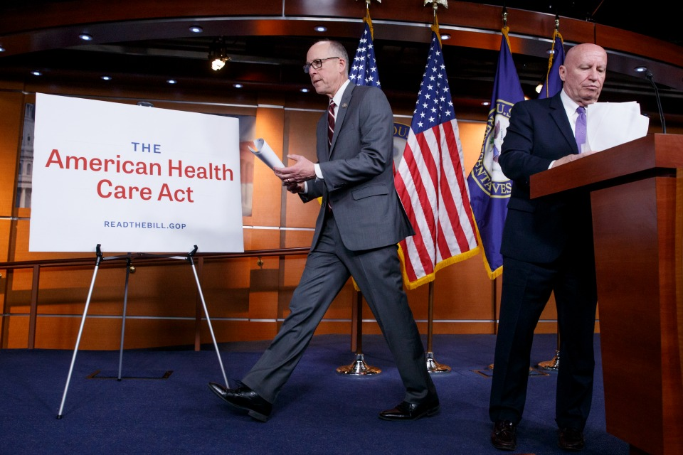 House Republicans introduce their plan to repeal and replace the Affordable Care Act. (AP Photo/J. Scott Applewhite)