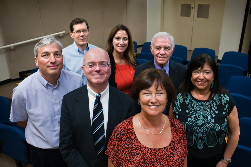 Current PPS Board, clockwise from far left: Mike Rosen, Tom Koehler (Chair), Amy Kohnstamm (Vice Chair), Steve Buel, Julie Esparza Brown, Pam Knowles and Paul Anthony. Koehler, Buel and Knowles will not be running for re-election. (Photo courtesy of PPS)