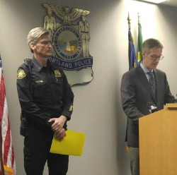 PPB Chief Mike Marshman and Portland Mayor Ted Wheeler