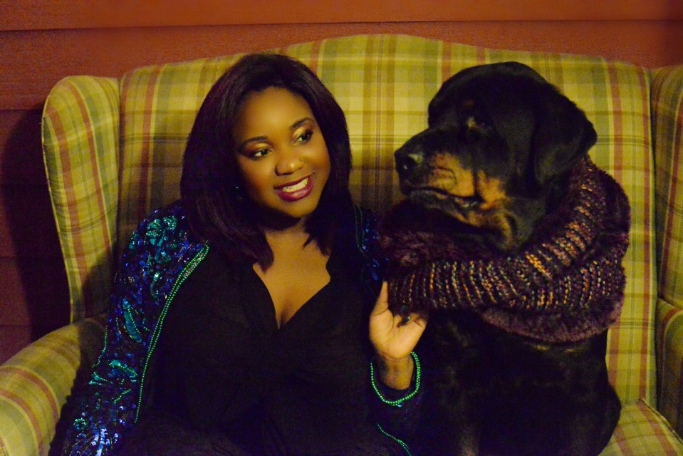 Dr. Jasmine Streeter and her dog Sheba