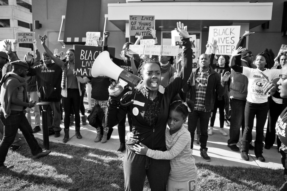 """Whose Streets?"" follows seven activists in the aftermath of the shooting of Michael Brown Jr. in Ferguson, MO. Pictured here is Brittany Ferrell, a civil rights activist from St. Louis. (Courtesy of SIFF)"