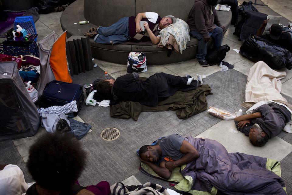Homeless courtyard
