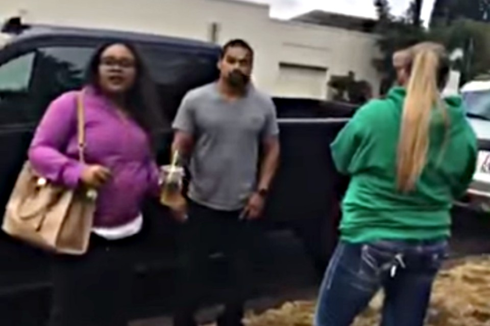 Andrade-Tafolla and his wife as ICE agents attempt to detain them on Sept. 18, 2017 (Video still from legal observer using Mobile Justice App)