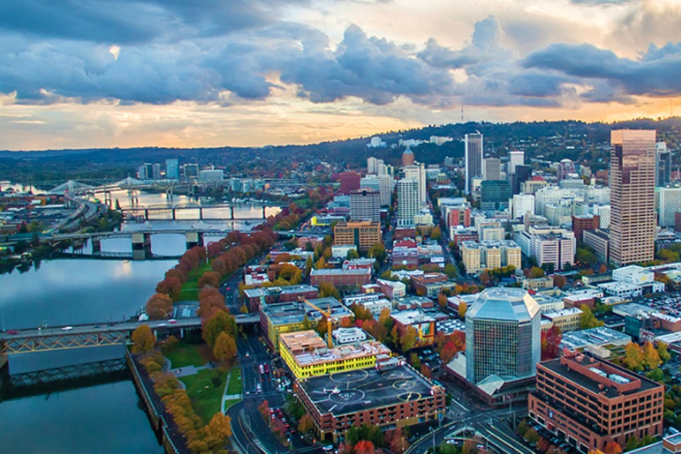 Overview of downtown Portland, Oregon. (Courtesy of NASPL)