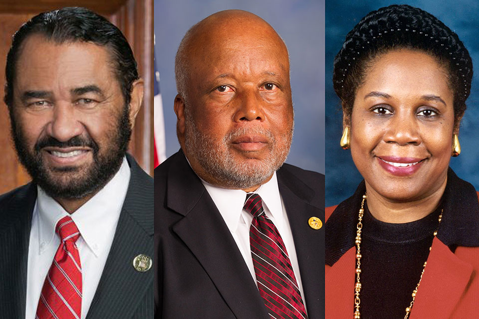 Rep. Al Green (D-Texas), Rep. Bennie G. Thompson (D-Miss.), Rep. Sheila Jackson Lee (D-Texas)