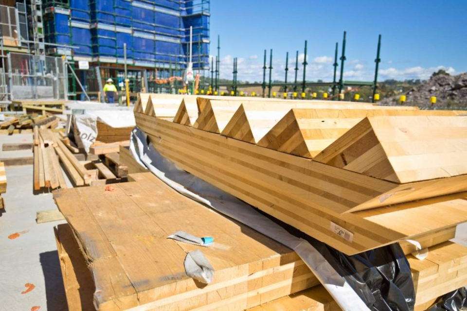 The laminated timber movement sustained another blow this summer when developers, citing construction costs, pulled the plug on the Framework building, a 12-story building planned in Portland's Pearl District. It would have been the tallest wooden tower in the country (Wikimedia)