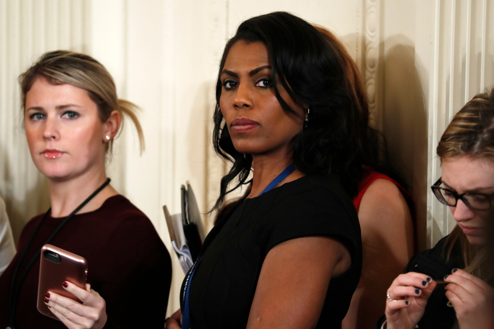 "The White House is slamming a new book by ex-staffer Omarosa Manigault-Newman, calling her ""a disgruntled former White House employee."" (AP Photo/Evan Vucci, File)"