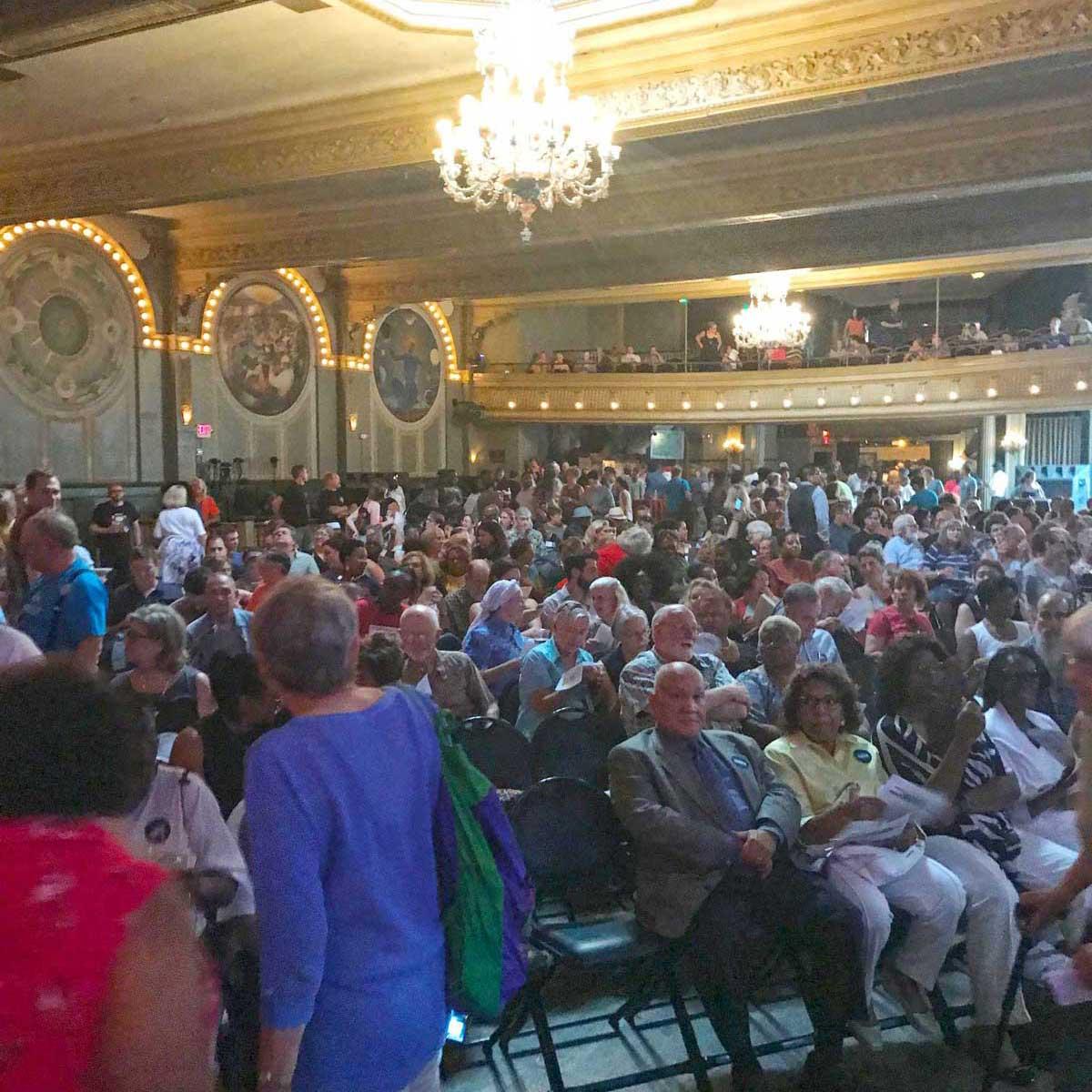 city council debate crowd