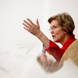 Warren Building Unlikely Connection With Black Female Voters