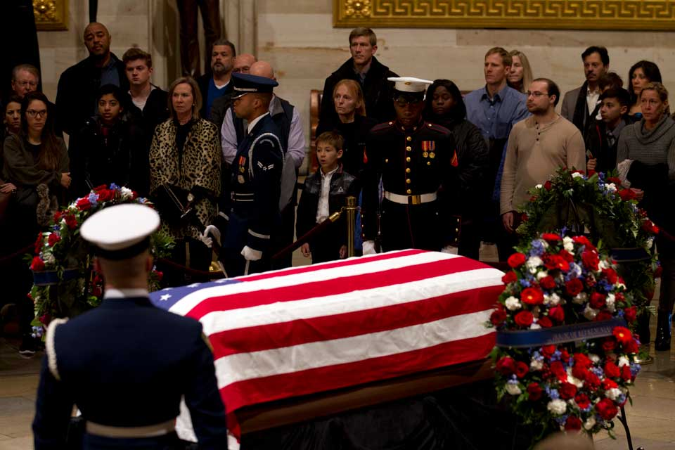 George H.W. Bush casket