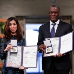 Nobel Peace Winners Urge Global Action v. Sexual Violence