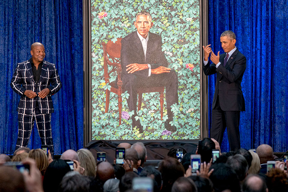 Obama painting and Kehinde Wile