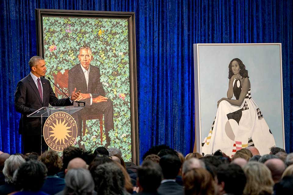 obamas portraits