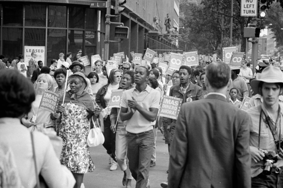 Demonstrators participated in the Poor People's March at Lafayette Park and on Connecticut Avenue, Washington, D.C. on June 18, 1968 (Warren K. Leffler, U.S. News & World Report via Wikipedia)