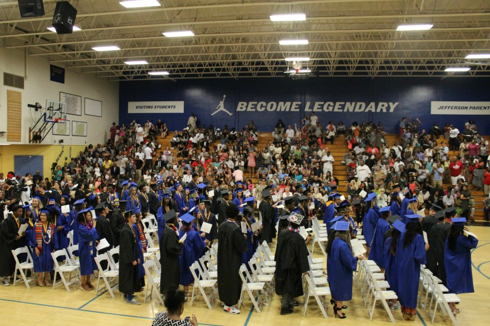 Jefferson High School's graduating class of 2015 (Photo courtesy of SEI)