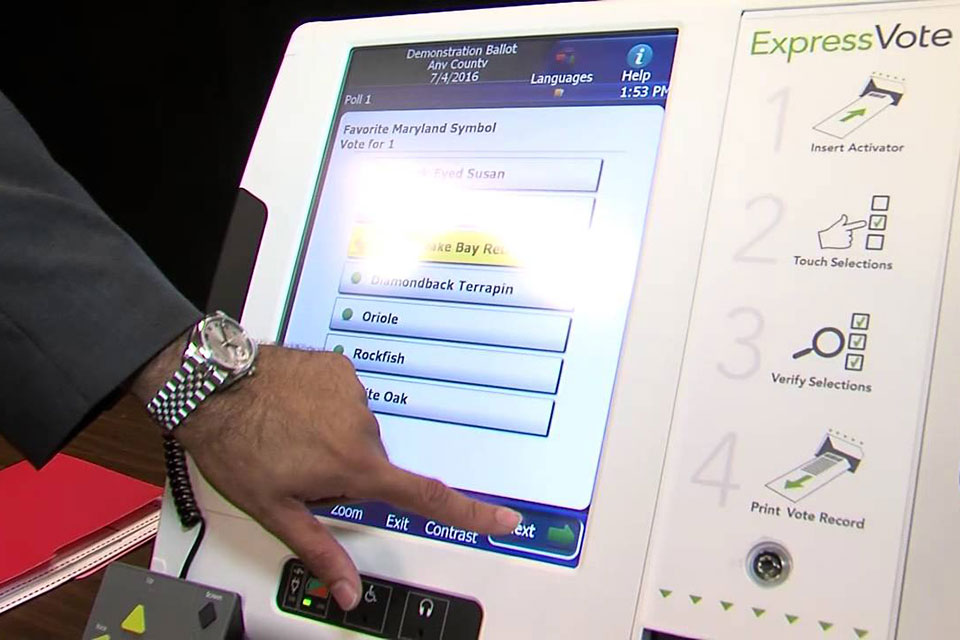 maryland voting machine