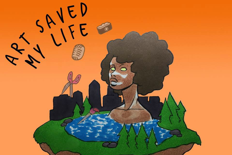 'Art Saved My Life' is an artist residency program that supports Portland-based Artists of Color to create works around healing from gentrification.
