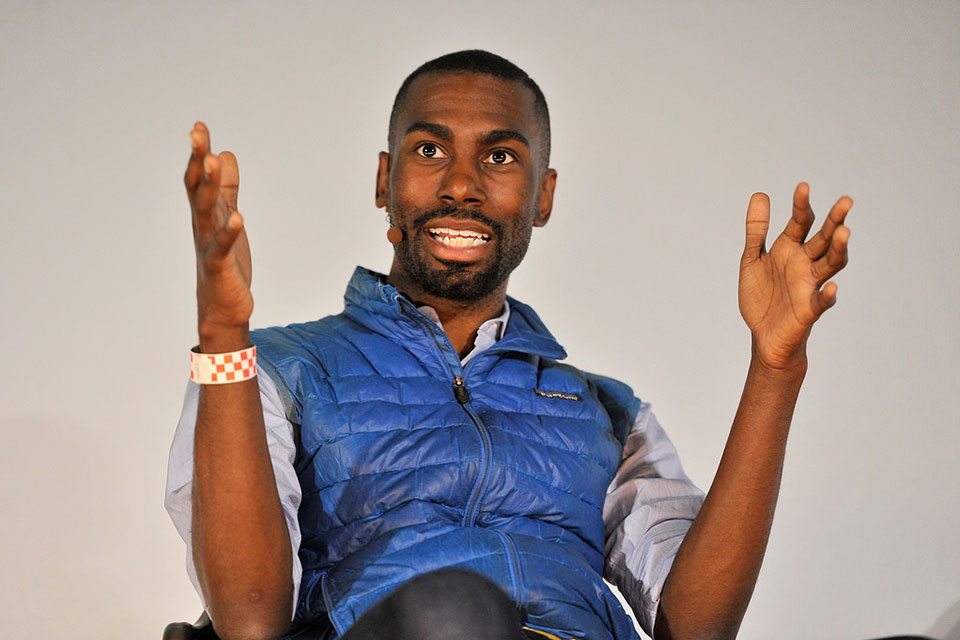 DeRay Mckesson participates in a panel discussion at Alamo Drafthouse New Mission on June 6, 2017 in San Francisco, California. (Photo by Steve Jennings/Getty Images for TechCrunch) (CC BY 2.0)
