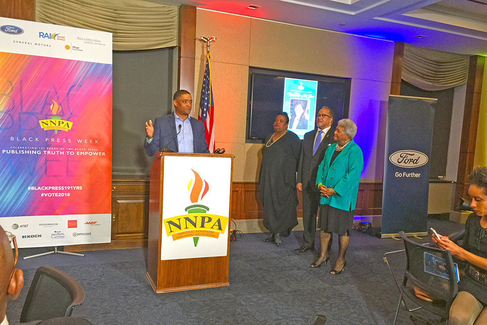 Congress member Cedric L. Richmond, (D-LA) chair, Congressional Black Caucus at NNPA Black Press Week