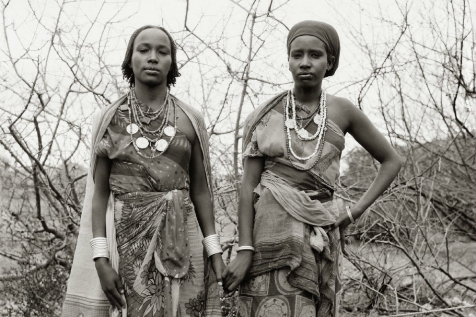 Fazal Sheikh's portrait of Borana war widows Dakie Galma Sora and Dira Wako Guyo, Ethiopian refugee camp, Walda, Kenya, 1993, from the series A Sense of Common Ground. (Fazal Sheikh).