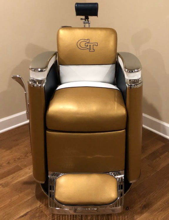 barber chairs gold med