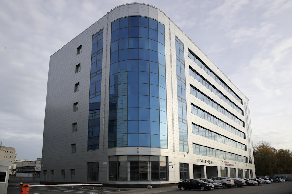 "The business centre building known as the new ""troll factory"" in St.Petersburg, Russia, Saturday, Oct. 20, 2018. The troll farm, the Internet Research Agency, is one of a web of companies allegedly controlled by Yevgeny Prigozhin, who has reported ties to Russian President Vladimir Putin. (AP Photo/Dmitri Lovetsky)"