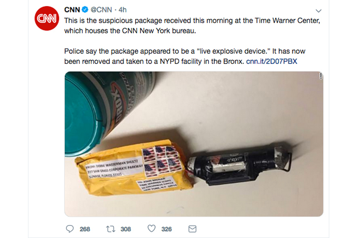bomb packages cnn