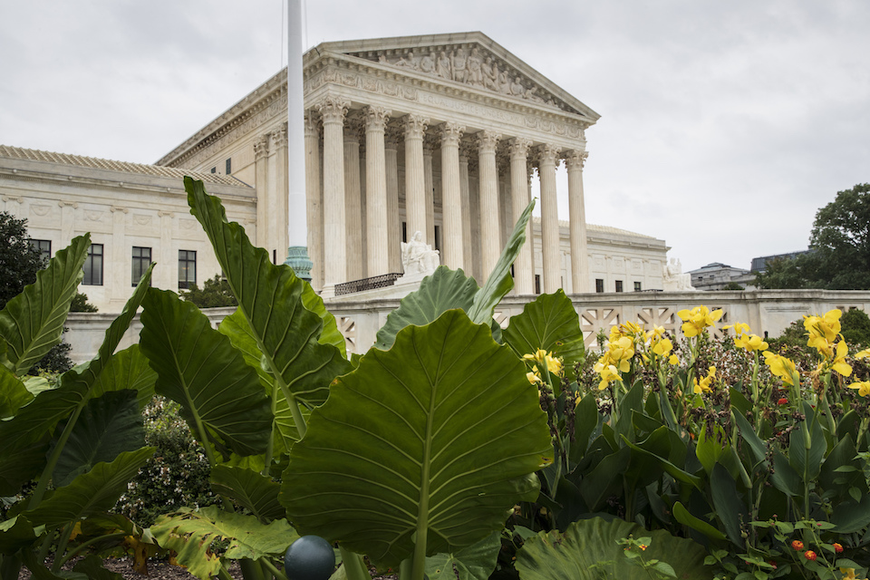The Supreme Court is seen in Washington, Sept. 21, 2018. On Monday, the court will begin its new term with the crack of the marshal's gavel and not a camera in sight. (AP Photo/J. Scott Applewhite)