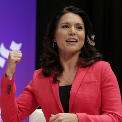 Democratic presidential candidate Rep. Tulsi Gabbard, (AP Photo/Michael Wyke)
