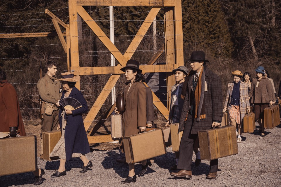 "This undated image released by AMC shows a scene from ""The Terror: Infamy."" The second season of an AMC-TV drama series scheduled to premiere Monday, Aug. 12, 2019, follows the internment of Japanese Americans during World War II and a number of bizarre deaths haunting a Japanese American community. (Ed Araquel/AMC via AP)"
