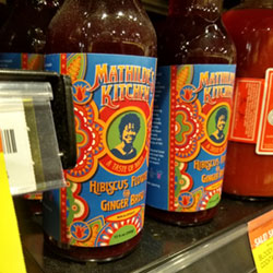 Mathilde Aurélien-Wilson's line of beverages is on the shelf at New Seasons. (photo by Saundra Sorensen)