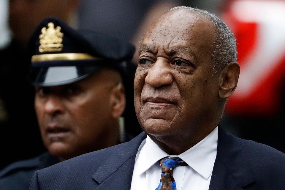 In this Sept. 24, 2018 file photo Bill Cosby arrives for his sentencing hearing at the Montgomery County Courthouse in Norristown, Pa. A Pennsylvania appeals court has rejected Cosby's bid to overturn his sexual assault conviction