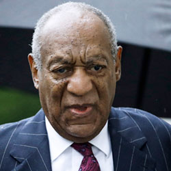 In this Sept. 25, 2018, file photo, Bill Cosby arrives for a sentencing hearing following his sexual assault conviction at the Montgomery County Courthouse in Norristown Pa.