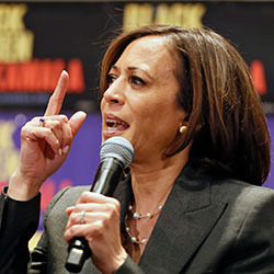 Sen. Kamala Harris, D-Calif., speaks at a Black Women's Power Breakfast co-hosted by Higher Heights and The Collective PAC at the Westin, Thursday, Nov. 21, 2019